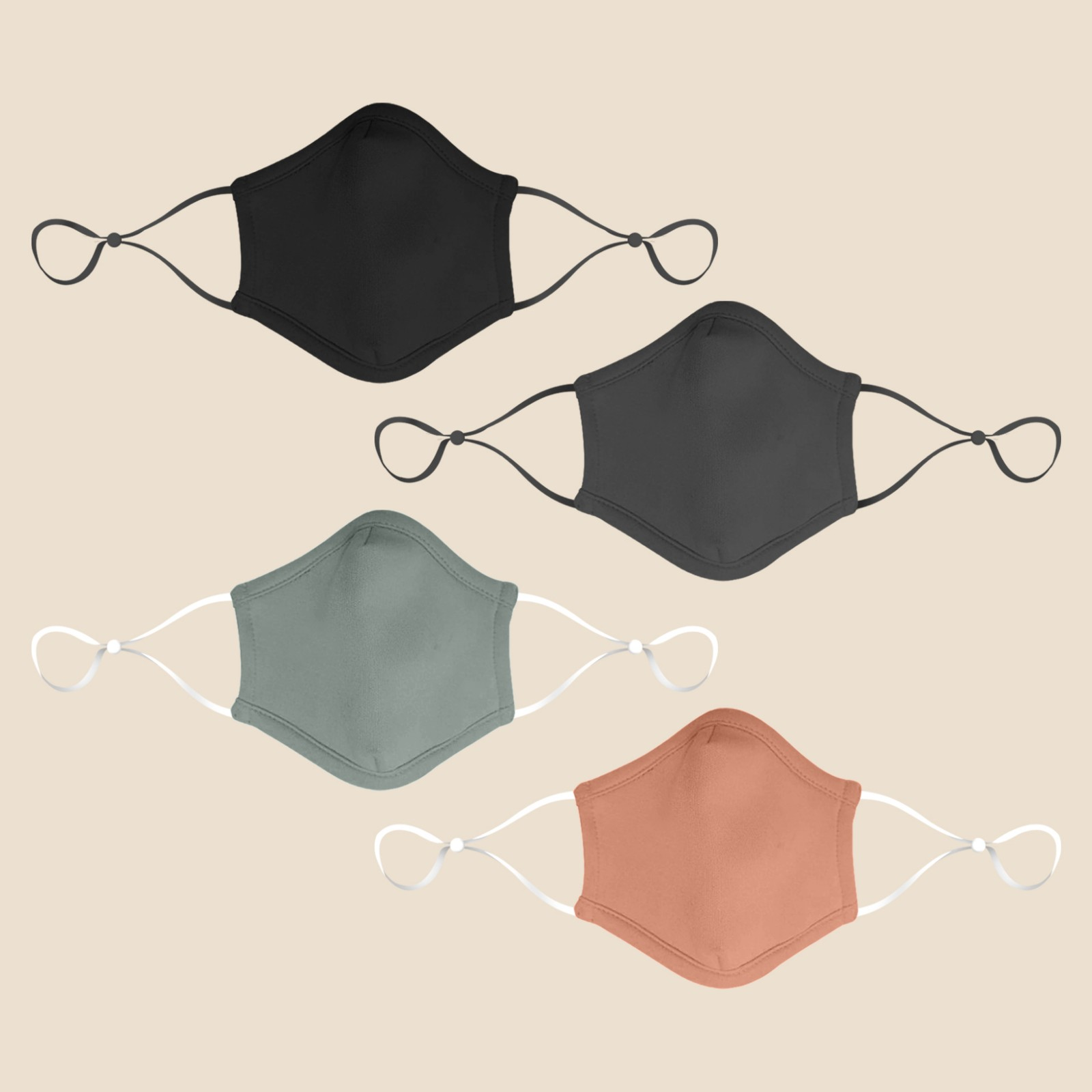 Water Repellant Washable Face Mask with Adjustable Ear loop