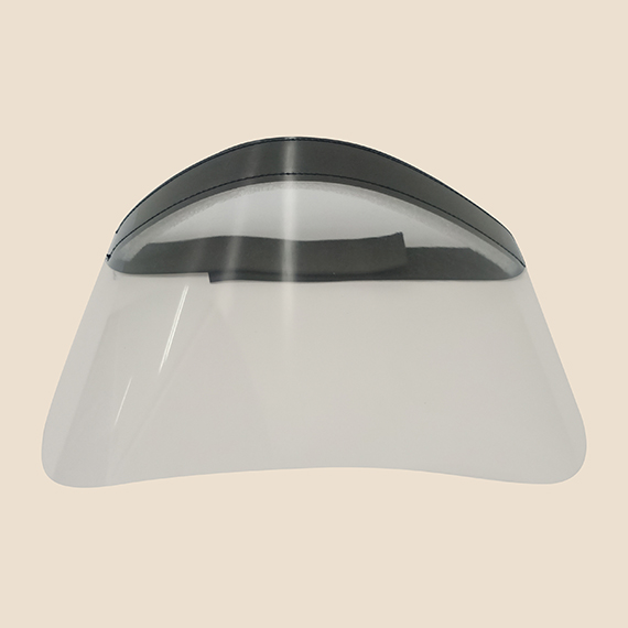 Face shield with acetate and velcro