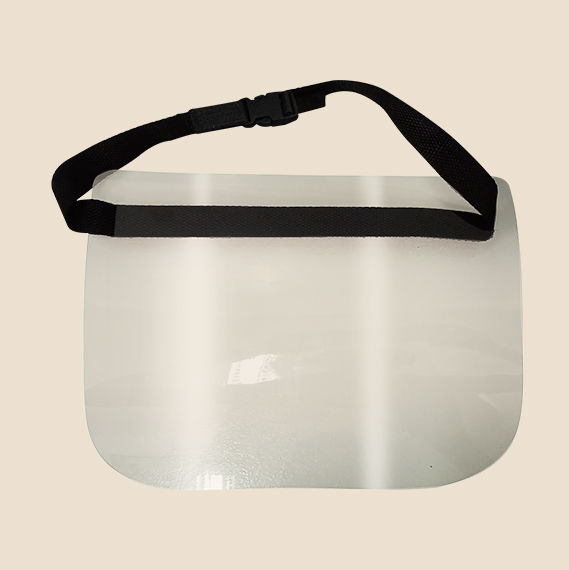 acetate face shield with adjustable strap and buckle