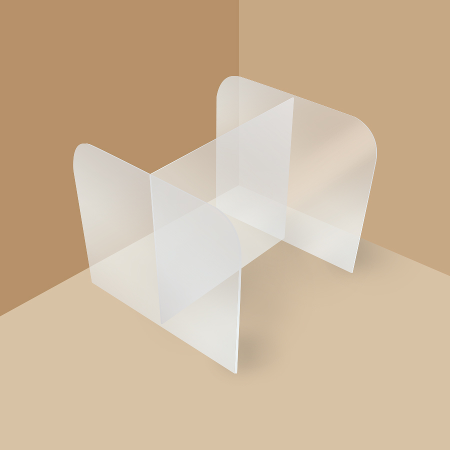 PPE Supplier Philippines, clear cubicle acrylic sheet for two person