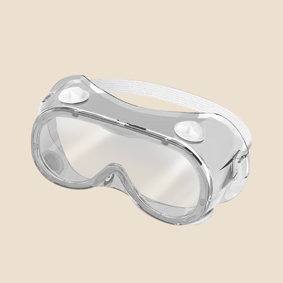 White anti-fog safety googles - medical isolation eye-shade