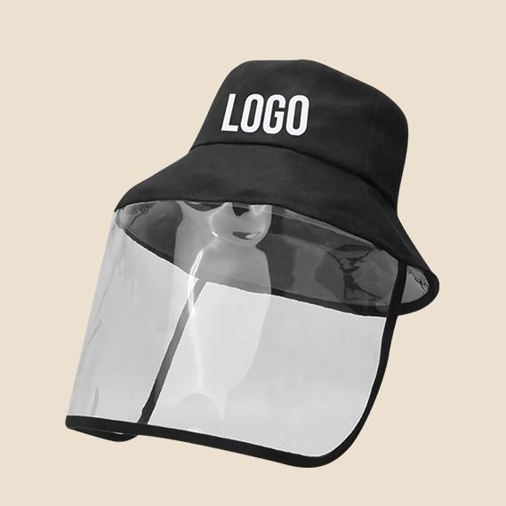 Logo bucket hat face shield