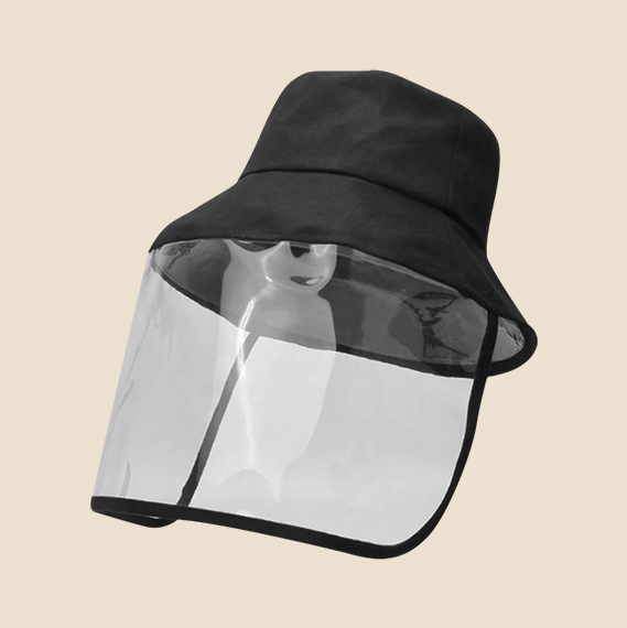 Black Bucket Hat with Plastic Shield worth Php195.00