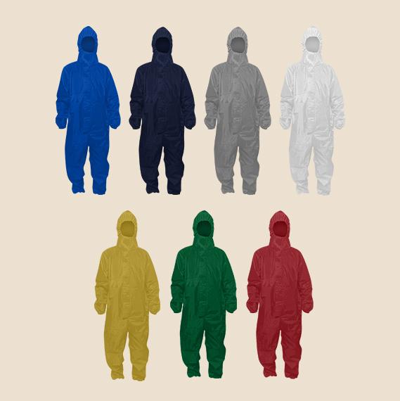 Fluid Repellent Hazmat Suit for cover all protection