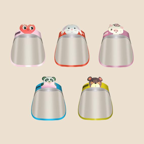 kiddie face shield in various designs