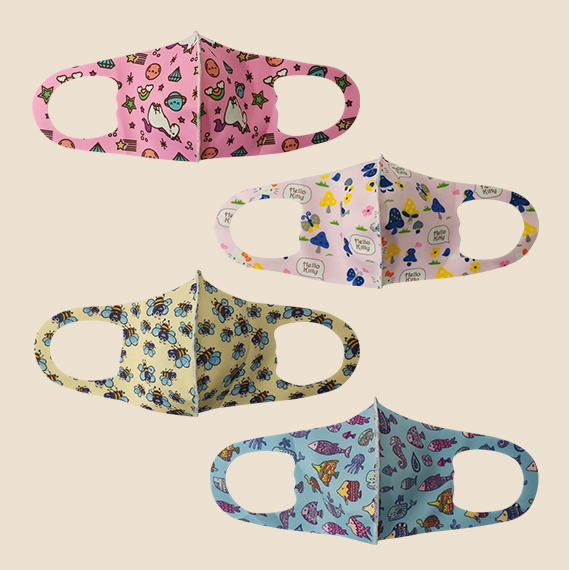 Washable Face Mask for Kids Printed