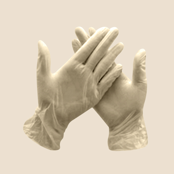 Disposable latex gloves worth Php430.00