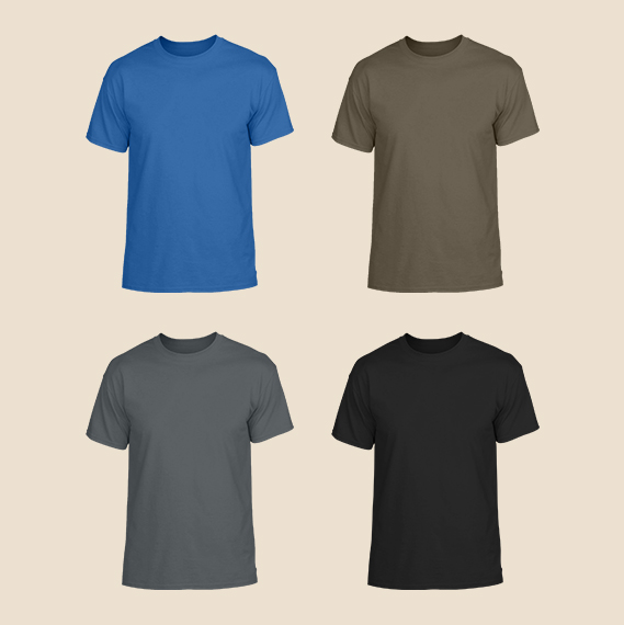Safety Protective Clothing , Men's Round Neck Tees
