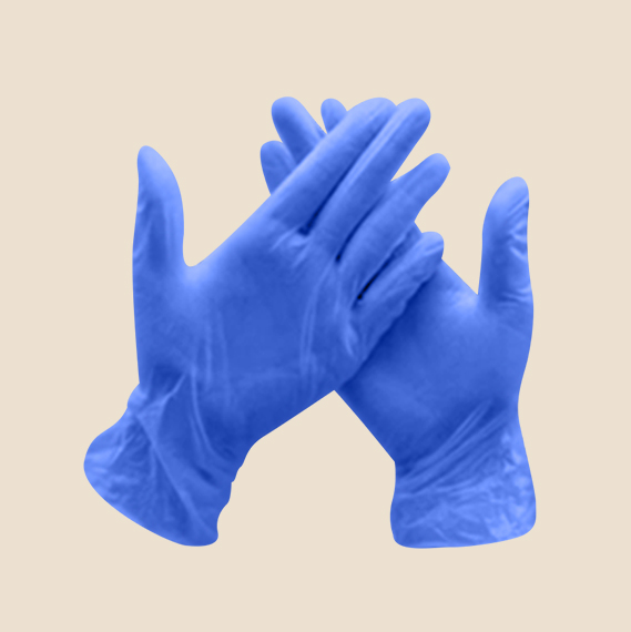 Disposable nitrile gloves worth Php450.00