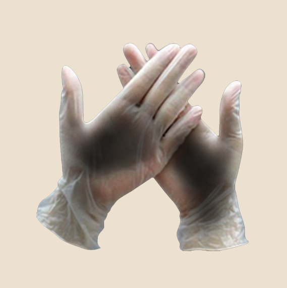 Disposable vinyl gloves worth Php390.00