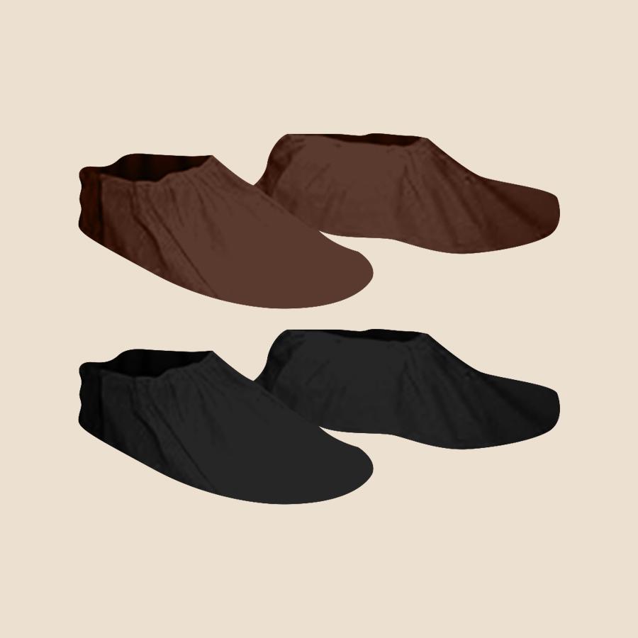 Blue, Brown, Black non-woven disposable booties