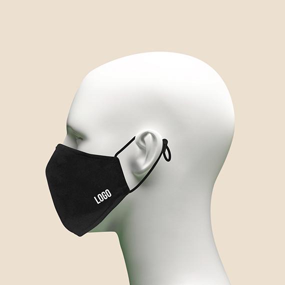 Washable Mask Philippines, Logo white washable face mask with garter and toggle