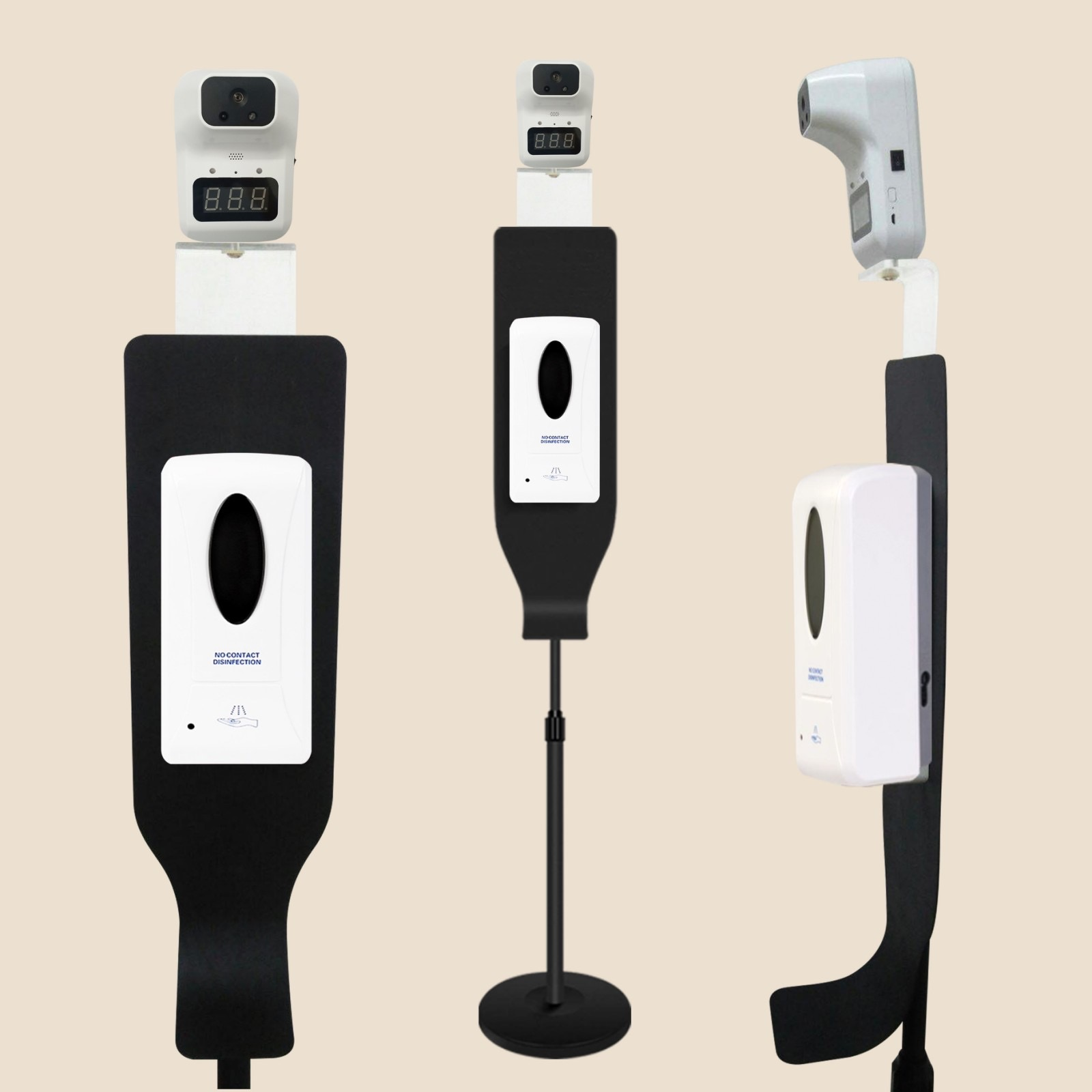 Thermal Scanner with Dispenser Stand Set