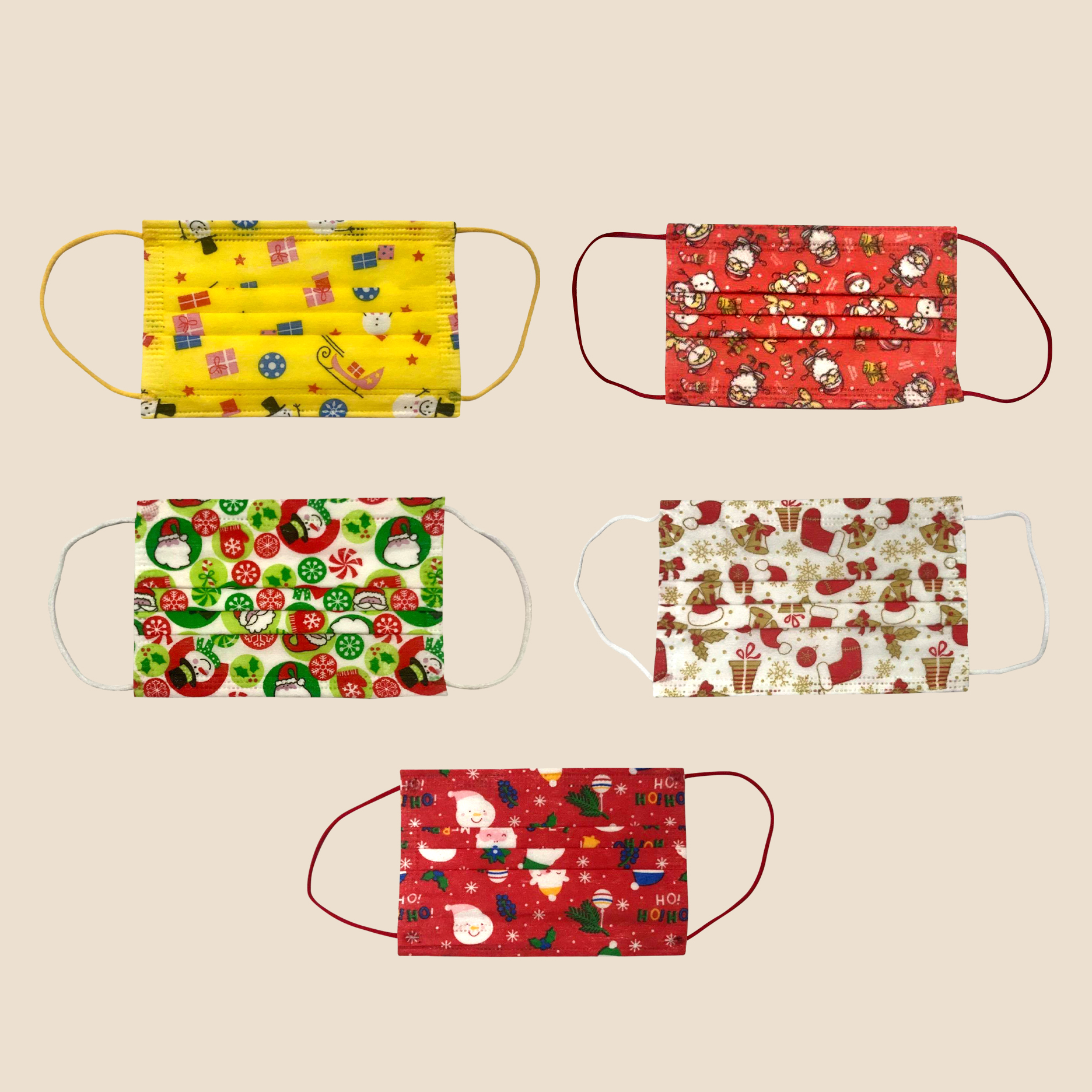 Kiddie Holiday Surgical Masks