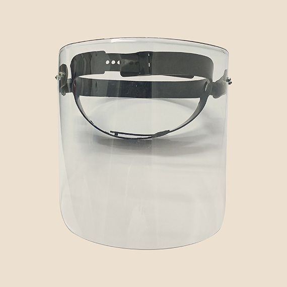 polycarbonate swing up face shield