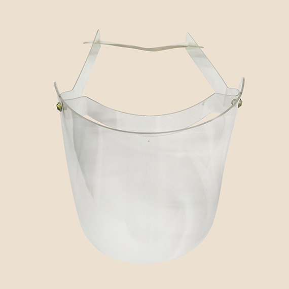 Swing Up Acrylic Lightweight Face Shield that protect face