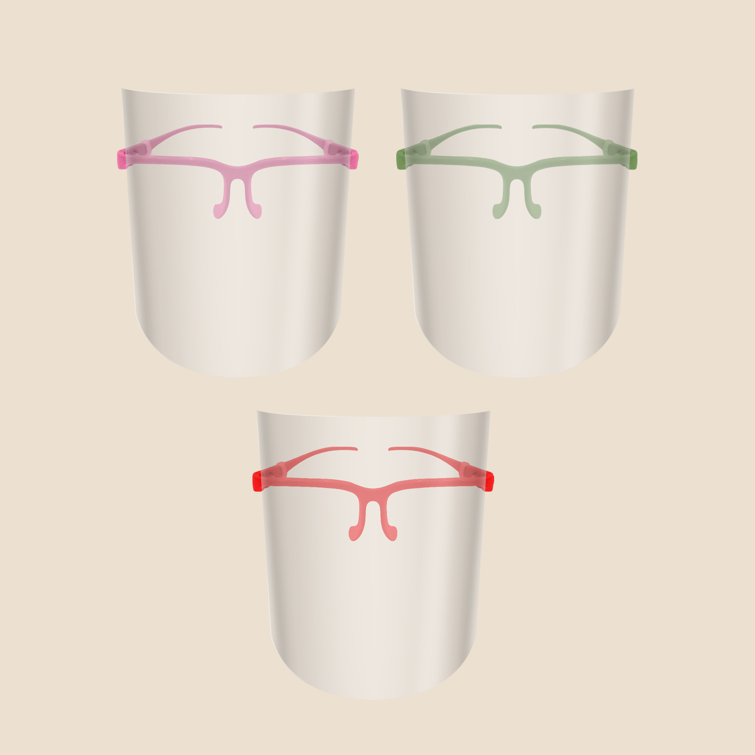 Two in One eyeglass frame with shield for kids