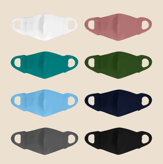 Different color of washable face mask with different colors