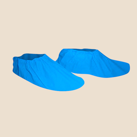 Protective Clothing, Blue non-woven disposable booties