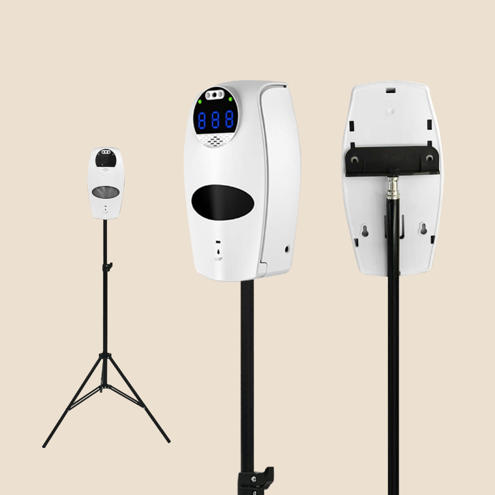 Voice Broadcast Thermal Scanner and Alcohol Dispenser with Tripod