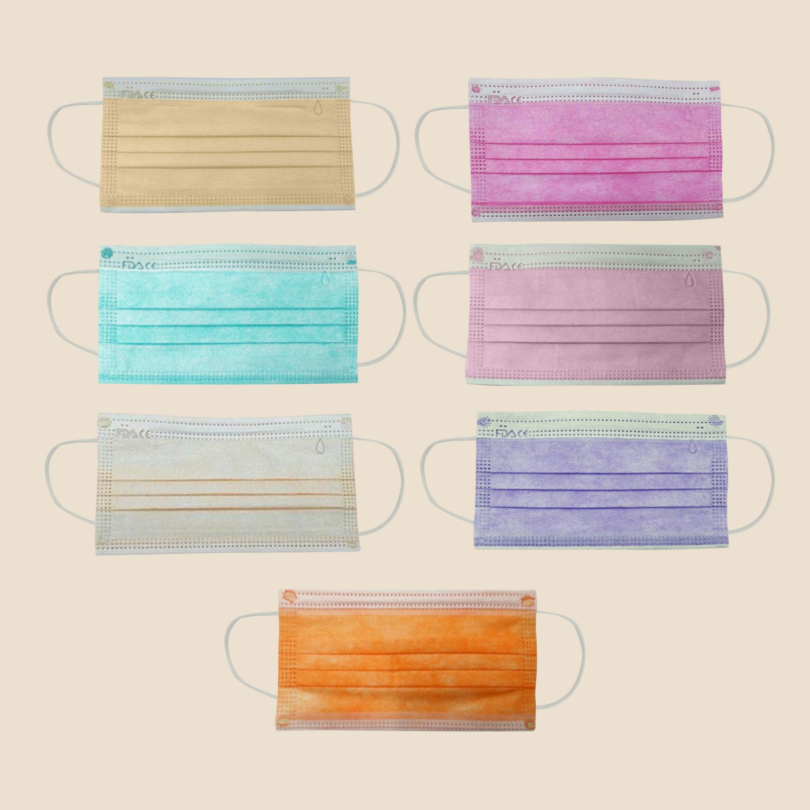 Colored 3-Ply Surgical Mask