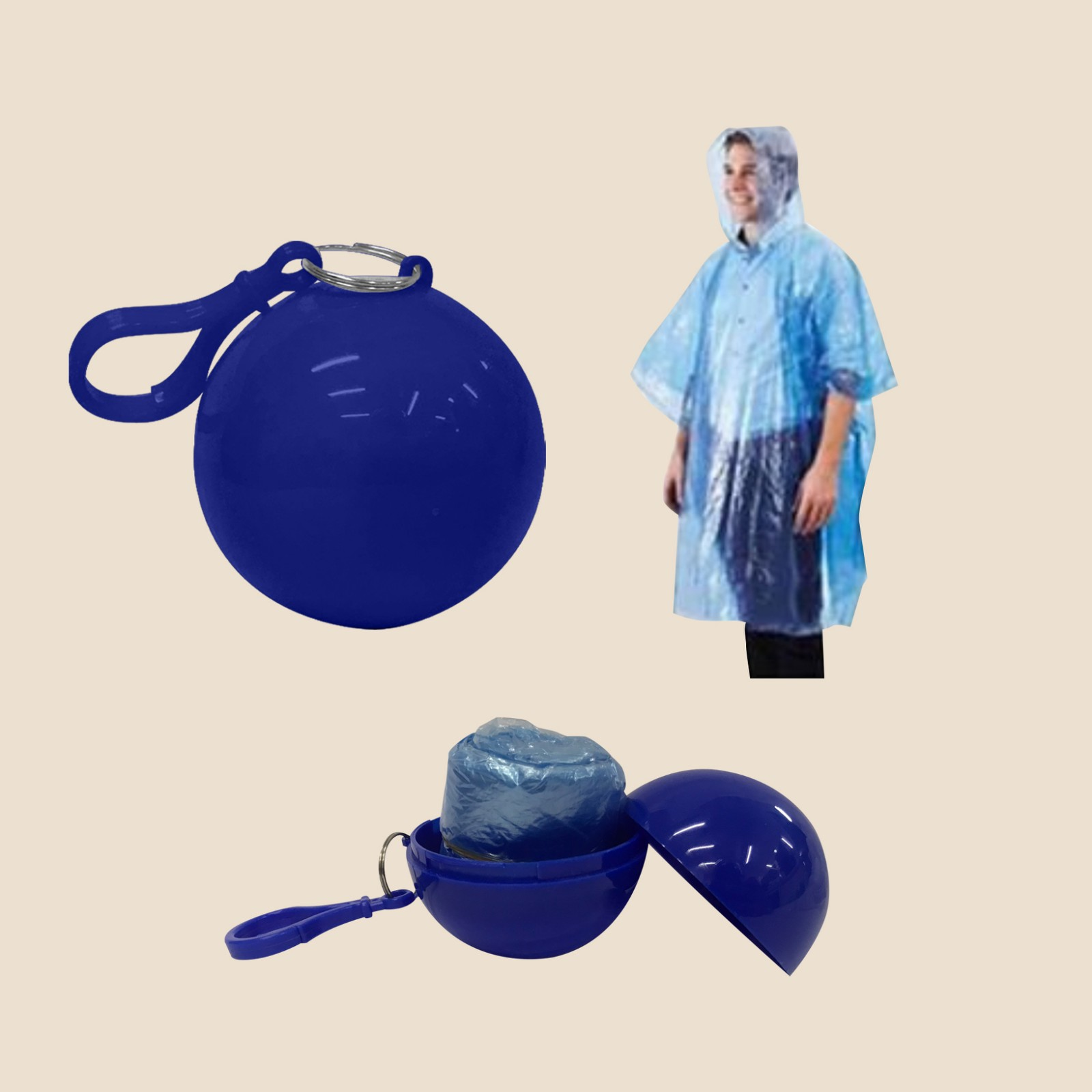 Raincoat with Ball Style Case